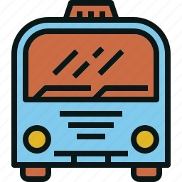 bus, city, service, transportation, travel icon