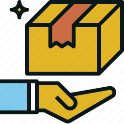 care, handling, package, service, shipping icon