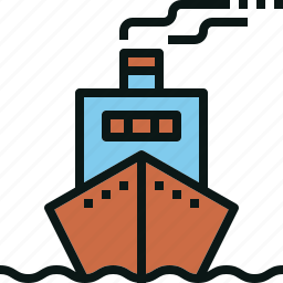 cruise, logistic, ship, transportation, travel icon