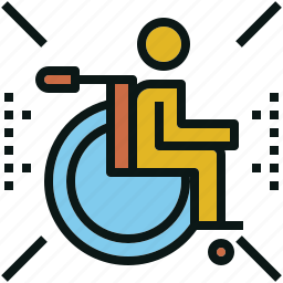accessibility, disabled, passenger, person, wheelchair icon