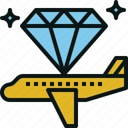 airplane, class, first, transportation, travel icon