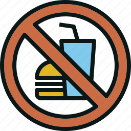 allow, beverage, food, no, not, prohibited icon