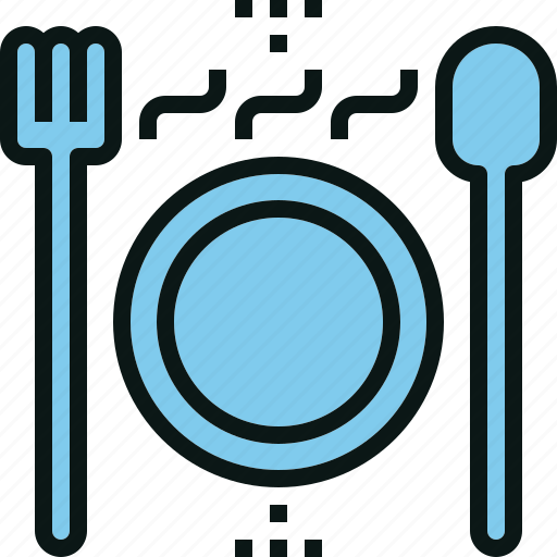 food, hot, meal, plate, restaurant, serve icon