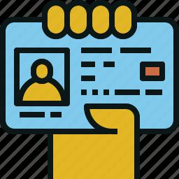 card, driver, id, identity, license icon
