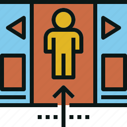 inside, move, passenger, train, transportation icon