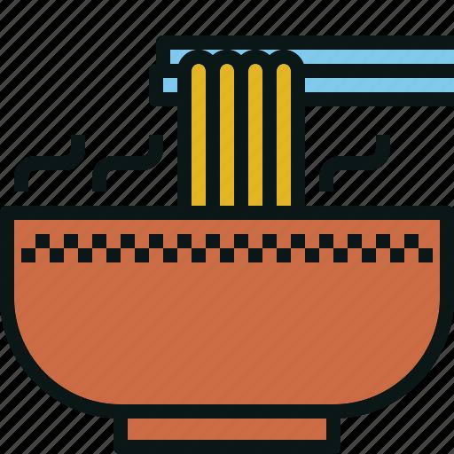 bowl, chopsticks, food, noodle, ramen icon