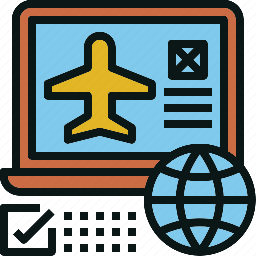 airplane, booking, online, transportation, travel icon