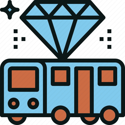 bus, premium, serviec, transportation, travel icon