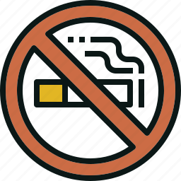 allow, no, not, prohibited, smoking icon