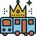 bus, serviec, top, transportation, travel icon