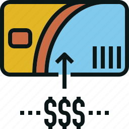 card, cash, pass, refill, top, up icon