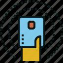 card, enter, pass, signal, touch