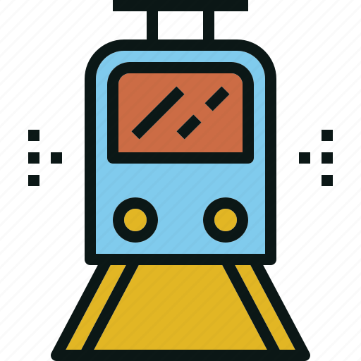 electric, train, transportation, travel, tube icon