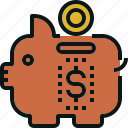 bank, budget, cheap, guardar, money, piggy, save icon