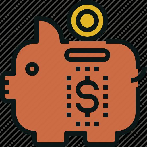 bank, budget, cheap, guardar, money, piggy, save icon
