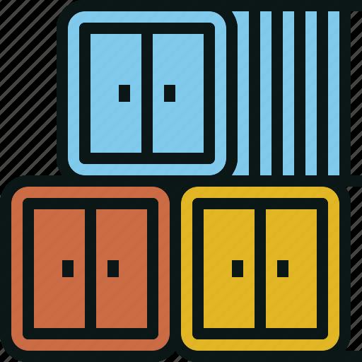 box, container, locker, logistics, shipping, storage icon
