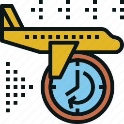 airplane, delay, fly, transportation, travel icon