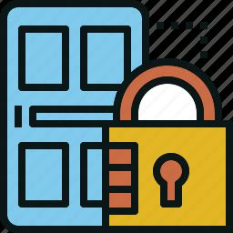door, guardar, lock, privacy, save, security icon