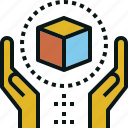 box, care, handle, package, shipping icon