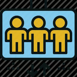 elevator, human, lift, transport icon