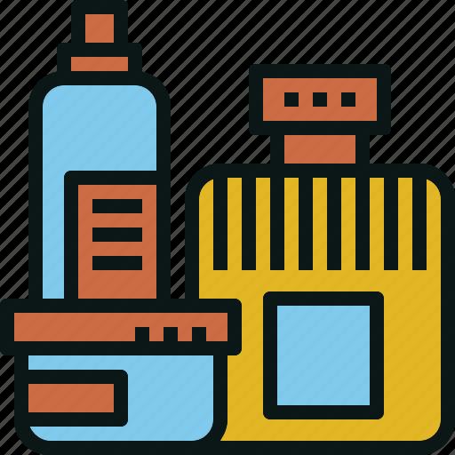 bottle, container, jar, liquid, perfume, spray icon