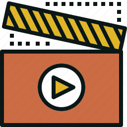 clip, entertainment, film, movie, video icon