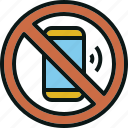 allow, cell, mobile, no, not, phone, prohibited icon