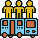 bus, passenger, public, transportation, travel icon