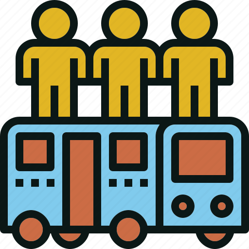 bus, passenger, public, transportation, travel icon