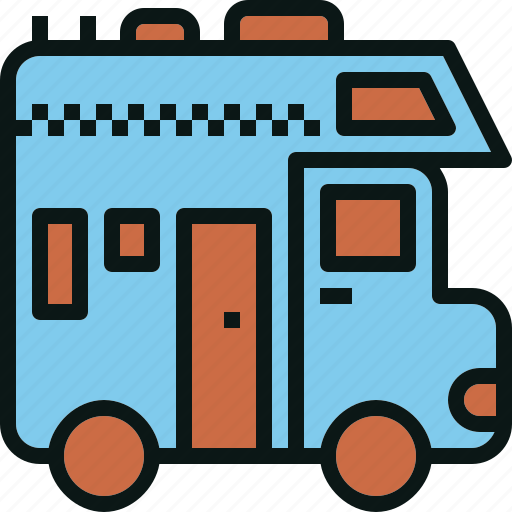 car, house, recretional, rv, travel, truck, vehicle icon