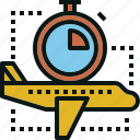 airplane, guardar, save, time, transportation, travel icon