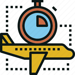 airplane, guardar, save, time, transportation, travel icon