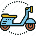 moto, motorbike, motorcycle, scooters, transportation icon