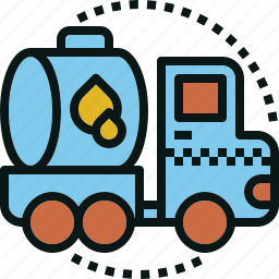 fuel, oil, tank, transport, truck icon