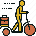 bike, exercise, transportation, travel, walking icon