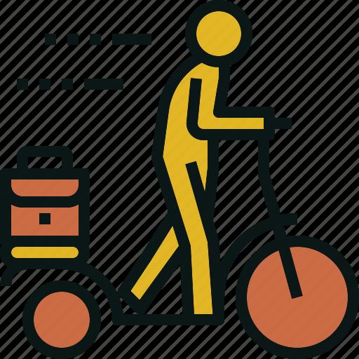bike, exercise, transportation, travel, walking icon