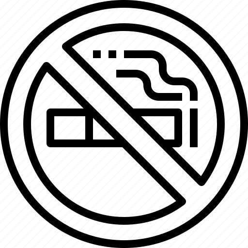 allow, no, not, prohibited, smoking icon