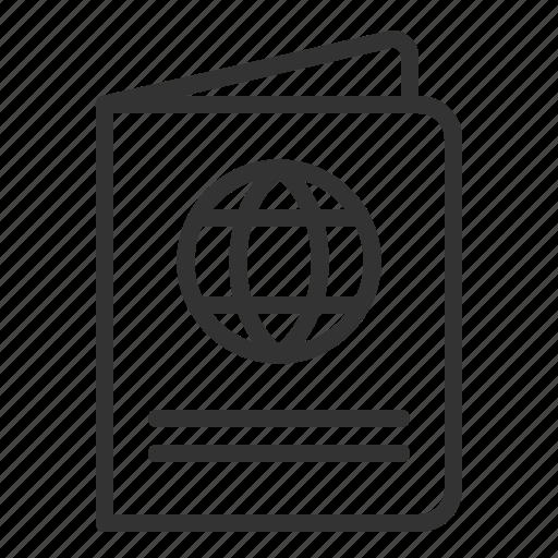 document, id, pass, passport, travel, travelll, visa icon