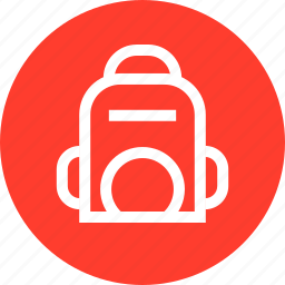 back, outdoors, pack, travel, vaction icon