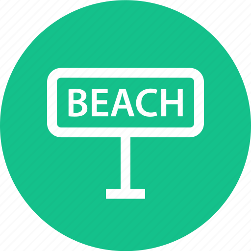 beach, outdoors, sign, travel, vaction icon