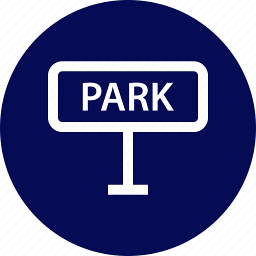outdoors, park, sign, travel, vaction icon