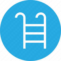 ladder, outdoors, pool, travel, vaction icon