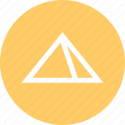 outdoors, pyramid, travel, vaction icon