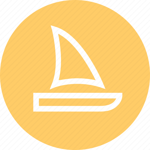 boat, outdoors, sail, travel, vaction icon