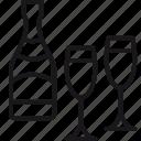 alcohol, bar, beverage, bottle, drink, glass, wine icon