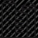 break, building, city, downtown, metropolis, office, skyscraper icon