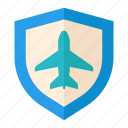 aviation, insurance, protection, safety, security, tourism, travel icon