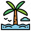 beach, holidays, nature, travel icon