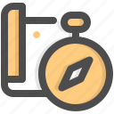 gps, utensils, compass, technology, direction, navigation, interface icon