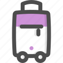 bag, baggage, hotel, luggage, suitcase, travel, trolley icon